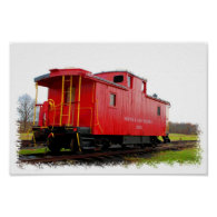 Red Caboose Posters
