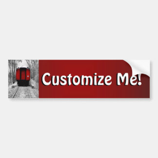 Red Caboose Victorian Steam Train Bumper Sticker