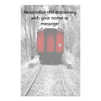 Red Caboose Victorian Steam Train Stationery