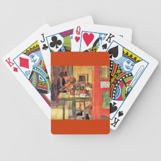 Red Cactus and Lisbeth Reading Bicycle Playing Cards
