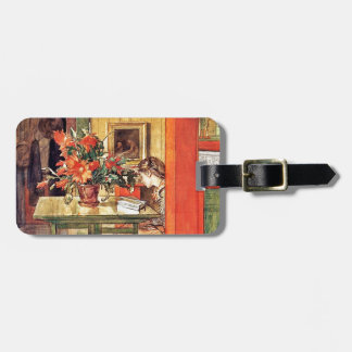 Red Cactus and Lisbeth Reading Luggage Tag