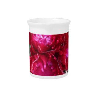 Red Cactus Flower Beverage Pitcher