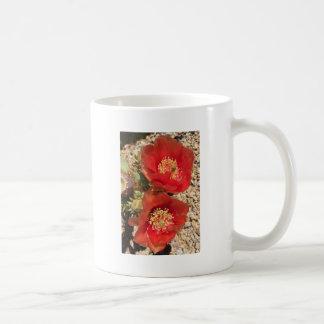 Red cactus flower coffee mug