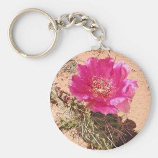 Red cactus flower keychain