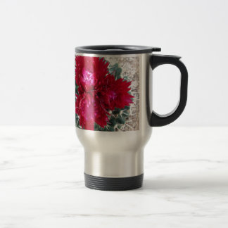 Red Cactus Flower Travel Mug