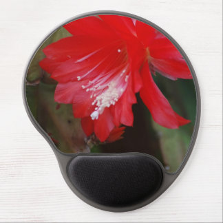 Red Cactus Flowering Gel Mouse Pad