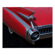 Red Caddy print