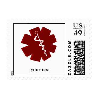 red caduceus medical gifts postage