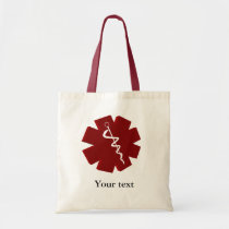 red caduceus medical gifts tote bag