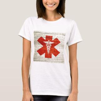 Red caduceus medical symbol T-Shirt