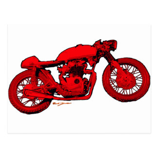 Red Cafe Racer Post Cards