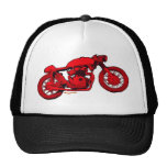 Red Cafe Racer Trucker Hats