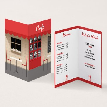 Professional Business red cafe restaurant business card