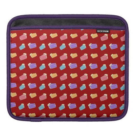 Red cake pattern sleeves for iPads