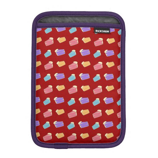 Red cake pattern sleeve for iPad mini