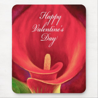 Red Cala LIly Tropical Flower Painting - Multi Mouse Pad