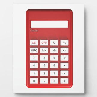 Red calculator calculator plaque