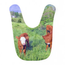 Red Calf Baby Bib