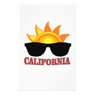 red California cool Stationery