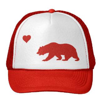 Red California Love Trucker Hat