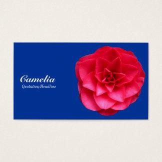 Red Camelia - Blue 003399 Business Card