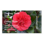 Red Camelia Flower Business Cards