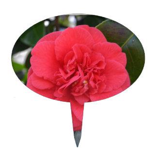 Red Camelia Flower Cake Topper