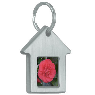 Red Camelia Flower Pet Name Tags