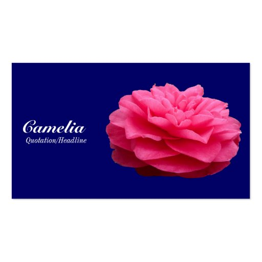 Red Camelia - Navy Blue 000066 Business Card Template