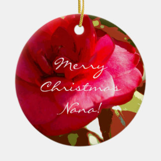 Red Camelia Personalized Ornament