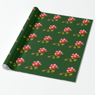 Red Camelia Wrapping Paper