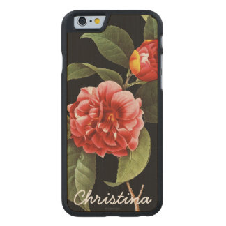 Red Camellia, 1833 Carved® Maple iPhone 6 Case