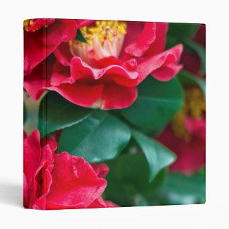Red Camellia 3 Ring Binder