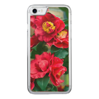 Red Camellia Carved iPhone 7 Case