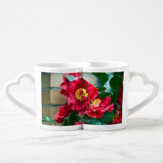 Red Camellia Coffee Mug Set