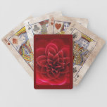 red camellia design playing cards