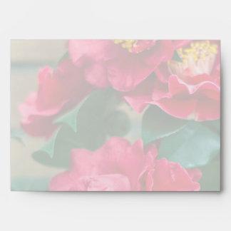 Red Camellia Envelope