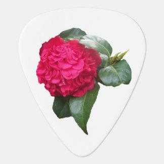 Red Camellia Flower Guitar Pick