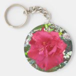Red Camellia Flower Key Chains