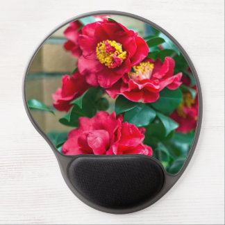 Red Camellia Gel Mouse Pad