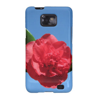 Red Camellia in Blue Sky Galaxy SII Covers