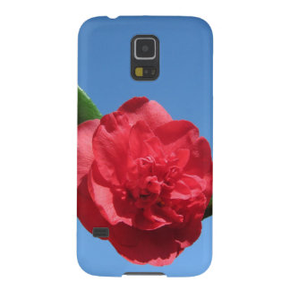 Red Camellia in Blue Sky Galaxy S5 Cover