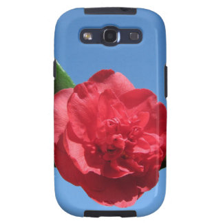 Red Camellia in Blue Sky Galaxy SIII Covers