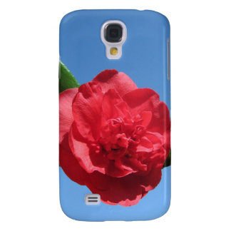 Red Camellia in Blue Sky Galaxy S4 Cover