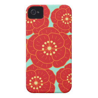 Red Camellia iPhone 4 Cover