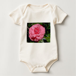 Red Camellia, japonica flowers Baby Bodysuits