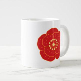 Red Camellia Large Coffee Mug