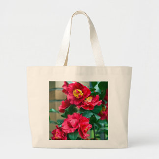 Red Camellia Large Tote Bag