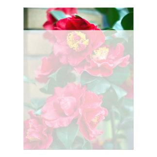 Red Camellia Letterhead