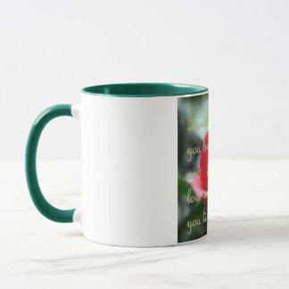 Red Camellia/Live Love Laugh Mug